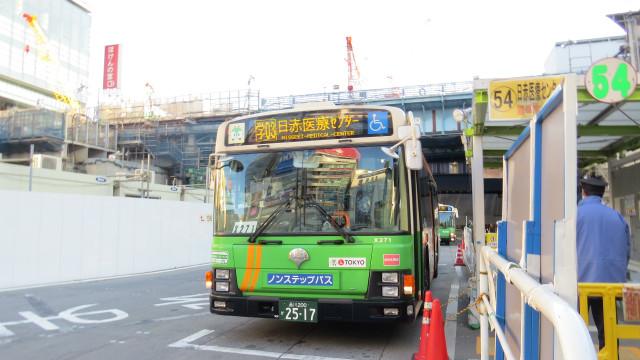 渋谷の都バスターミナルにやってきた