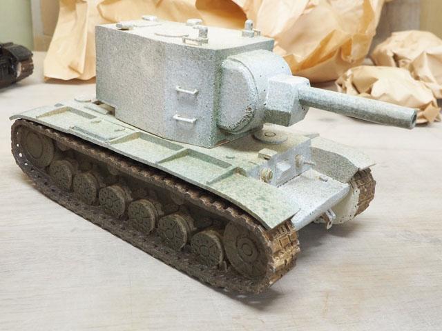 そうして出来上がったのは、こんなにも見事な戦車であった