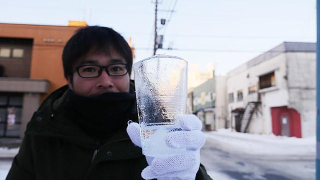 そこで氷のコップです!