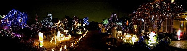その2007年に案内してもらった埼玉の有名浮かれ物件。庭が開放されてた。すごかった。