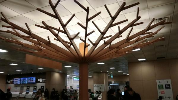 幹から別れた枝はここの場所から全ての場所に行けるという意味を表している。という嘘を今考えた。