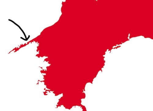 佐田岬半島はカットさせていただきます。再現できないし。