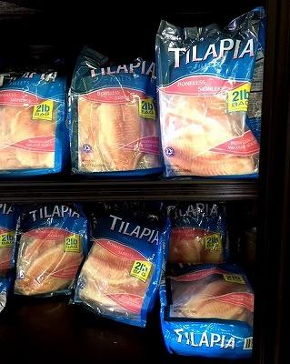 アメリカではアフリカ原産のティラピアが食材として市民権を得ているようだ。