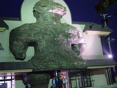 木造駅の遮光器土偶は10年前に見に行った