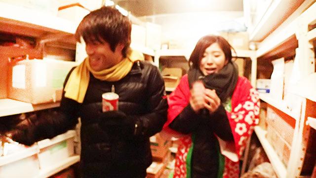 森永の甘酒には米麹も酒粕も、両方入っています。しかし寒かった。