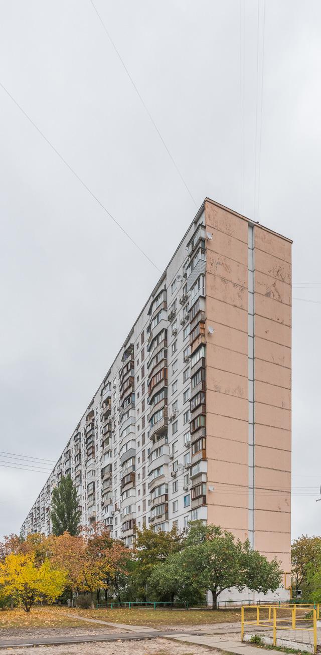 横方向に長大なので、プロポーション的には日本のふつうの団地と似た感じだが、数えてみれば17階建てだ。でかい。日本の4階建て団地をシフトキーを押しながらドラッグして拡大した感じ。