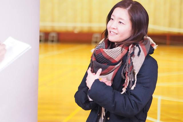 女性プレーヤーの金子祐美さん。女性のプレーヤーもたくさんいたので、話を聞いてみることにした。
