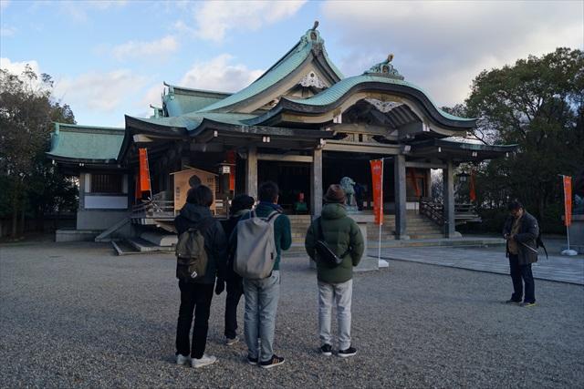 大阪城敷地内にある神社。