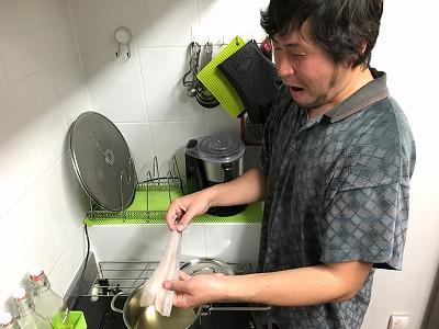 兎にも角にもまずは天ぷら!ということで油も温め、さあ揚げるぞというところでトラブル発生!