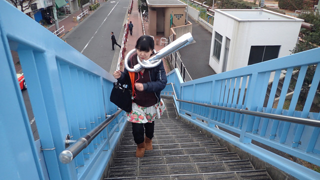 階段をずんずん登っていてもずれないのが頼もしい