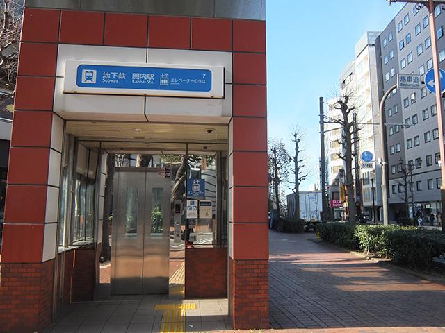 8番出口付近のエレベーターから桜木町方面に向かって歩く