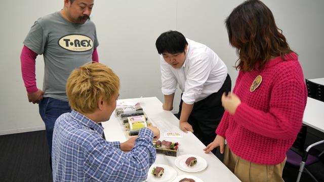 しかし江ノ島くんはこの恵方巻き食べ比べが楽しみで