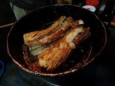 フライパンで焼き上げられた蒲焼きは香ばしく、やけに分厚い。火を通したので発電組織は変性し、電気の発生は止まっているはずだ。生の状態と比べて、味も変わっているだろう。