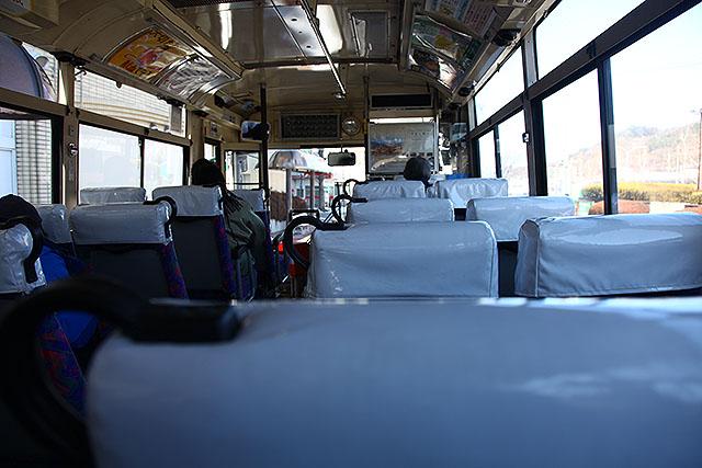 バスに乗換え。笹丸平というバス停まで行く。40分、1000円。