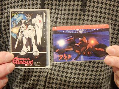 他にもテレフォンカードを持ってきた方が。アキラの劇場映画は1988年。当時の日本のアニメとしては破格の10億円をかけてつくったそうですよ。