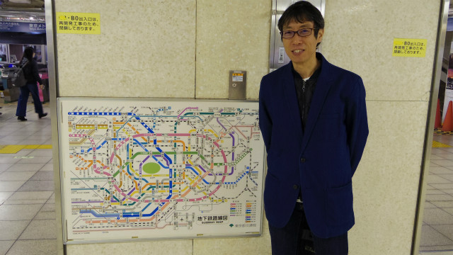 都営地下鉄の路線図をデザインした大西さん