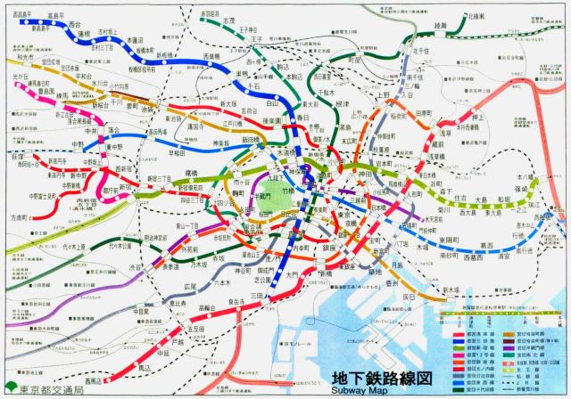 大江戸線全線開通以前の路線図