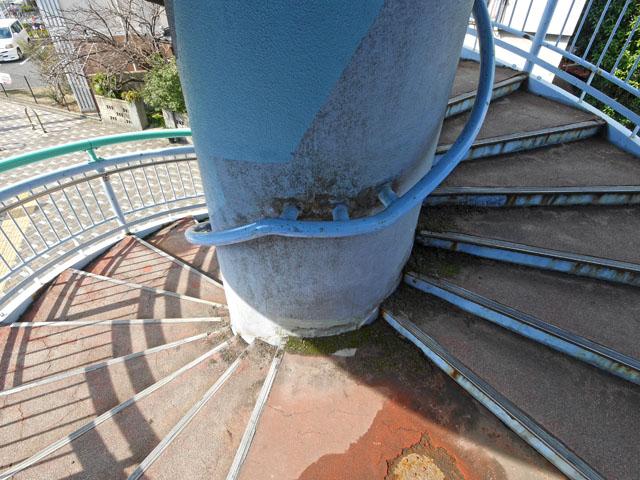 螺旋階段の内側の、こういう全てが螺旋状になった景色もたまらなく良い