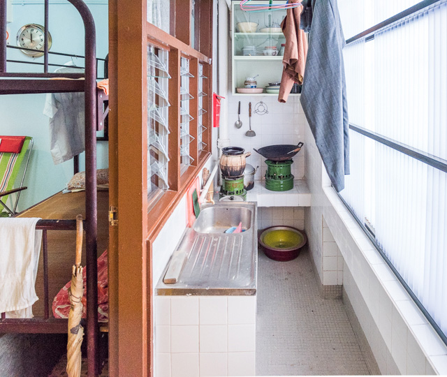 当時のキッチンの再現。なんで部屋の再現ってこんなにわくわくするんでしょうか。