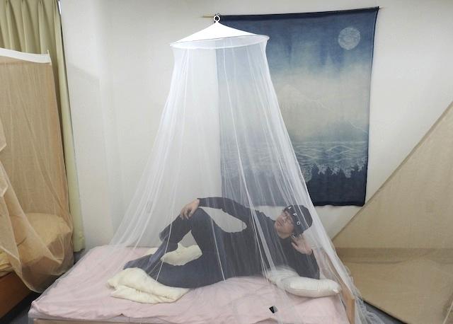 蚊帳の中へ、行ってみたいと思いませんか。