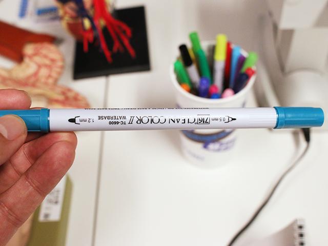 テンション上がってて、写真撮った時にペンが逆さになってたの気付かなかった。