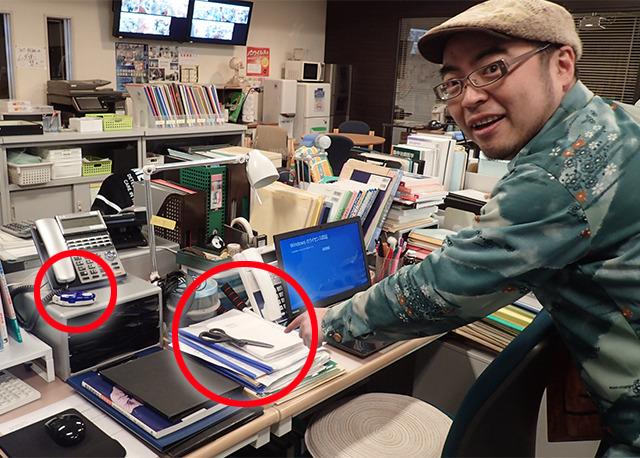 井川先生の席にはまとめてセット!いっぱい映るといい。