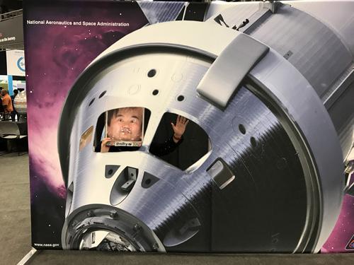 NASAブースにあった顔ハメ?