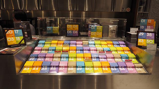 56種類のチョコは常に販売。バレンタイン時期をのぞくと、ここでしか売っていないのだとか。