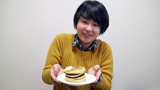 今日のお昼はホットケーキです!!!