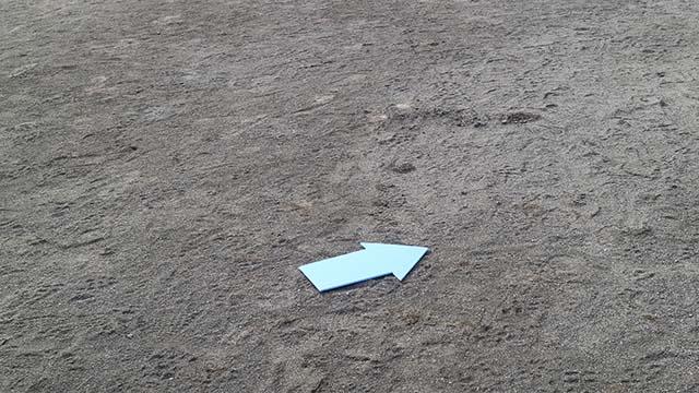 地面に置いて撮影してみた。忘れたら落とし物として処理してくれるだろうか。