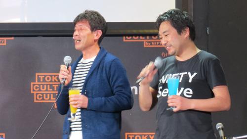 イベント開始前にはBIGLOBE&NIFTY両社の偉い人がお互いブランドをイメージしたオリジナルカクテルを飲ませあうという、これでいいのかという「挨拶」も