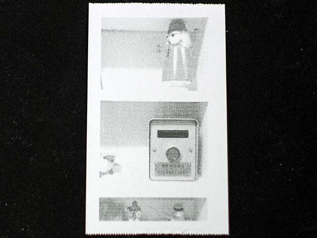 印刷されるのは、こういった白黒写真である
