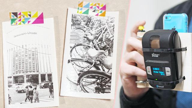 白黒写真がその場で印刷できる、チェキのようなカメラを自作した
