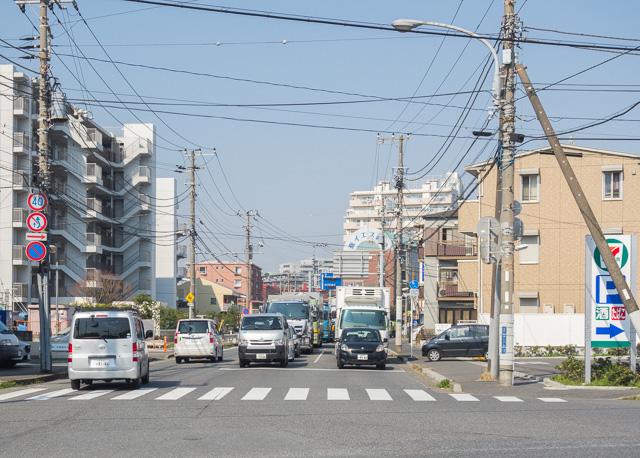 ここが産業道路が始まる交差点。