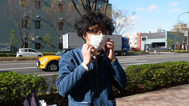 今度は自転車側の条件を変えよう。マスクで声量を落とそう