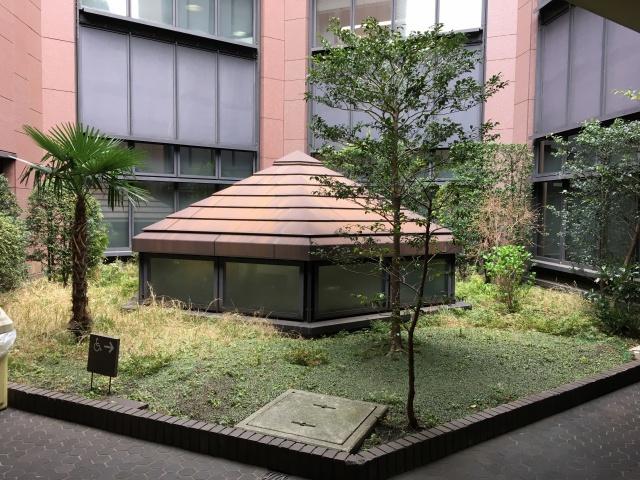 六角形の中庭!