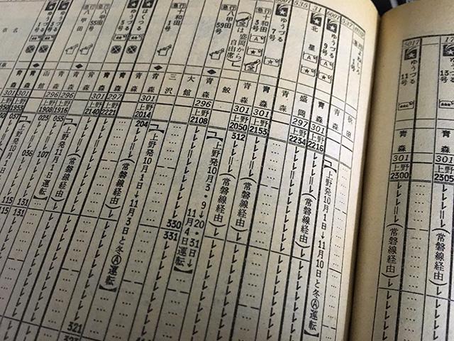深夜の東北を走る上野発の夜行列車群