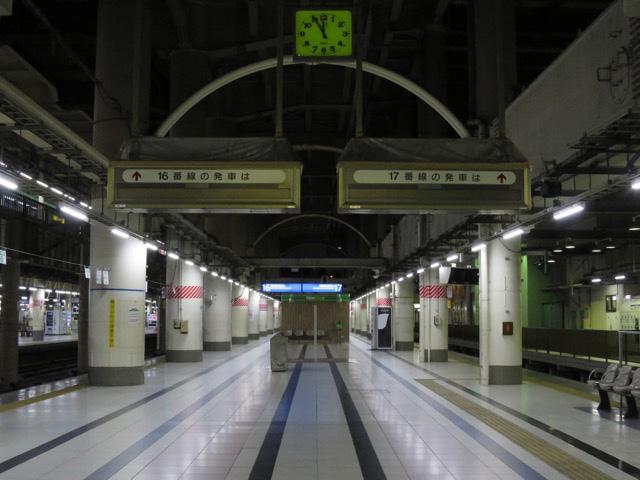 本日16番線最後の列車