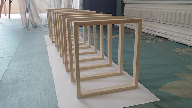ヒノキ製の木枠が10個