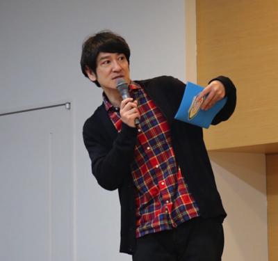 ココリコの田中直樹氏。動物好きで知られ、海洋生物(特にサメ)にも造詣が深い。今回、その手腕を買われて戸田深海魚大学の特任教授に任命された。