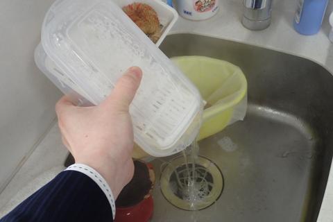 お湯を切れば……