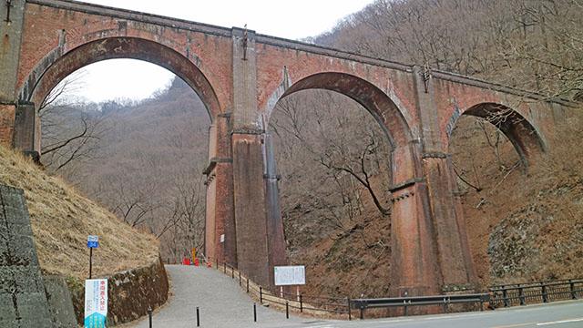 碓氷第三橋梁、通称めがね橋は群馬県安中市にあります。