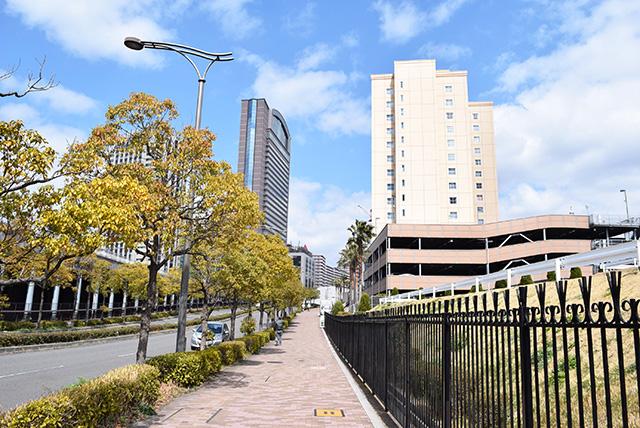 道が広い。空が青い。高級マンションの広告のような景色だ。