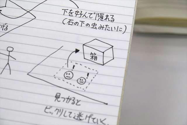 箱に「箱」って書いてある。かわいい。