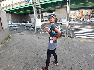 日本酒系変態ランナー加賀美さん。こちらや、こちらの記事でも同行してもらっています。毎度ありがとうございます。