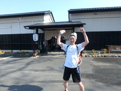 8時30分頃。約84km地点、栃木県小山市大字喜沢の思川温泉到着!