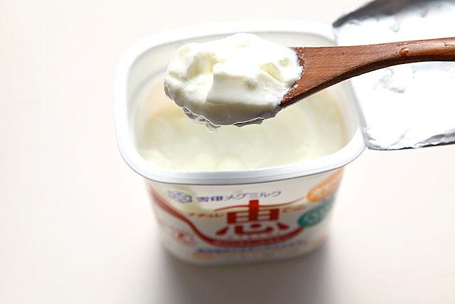 メグミルクの酸味はビヒダスと変わらないけどちょっとクリーミーでコクがある。シリアルに合う。