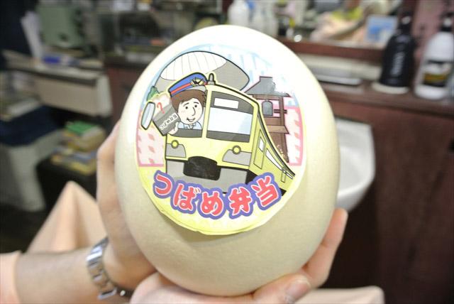 鉄道グッズかと思ったらダチョウの卵だった。意外!