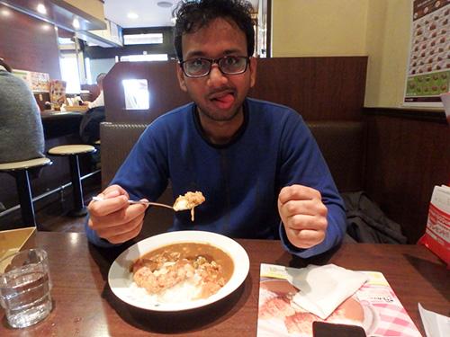 「インドの味がする!」といい、めっちゃ楽しんで食べていた!(CoCo壱がインドのカレーと遜色ないというのは驚き!欧風ぽい傾向にシフトしていると勝手に思っていた)