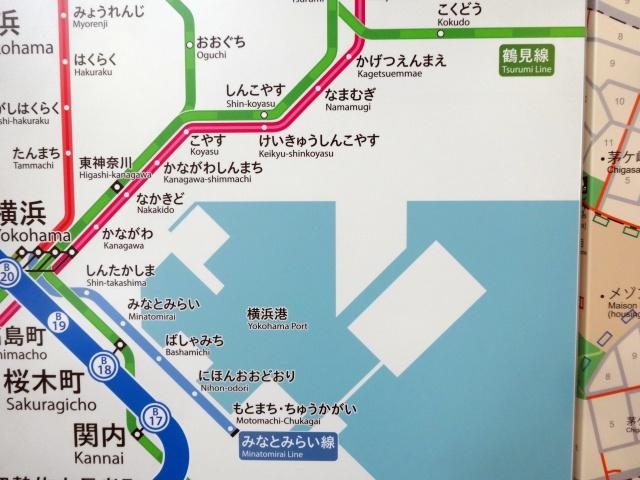 横浜港も縦・横・斜め45度で描かれていて惚れ惚れする